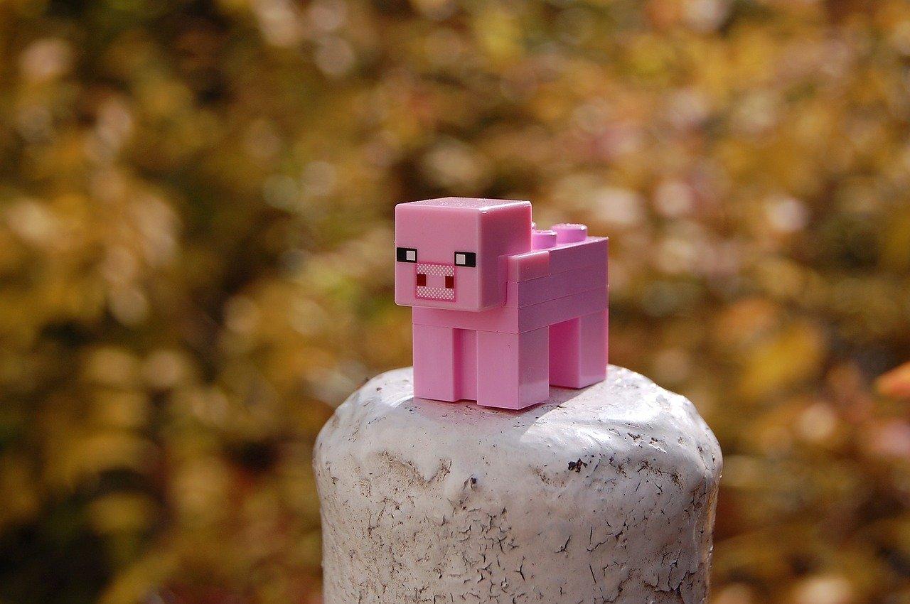 Lego Cochon Minecraft tiré d'un jeux vidéo