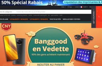 Page d'accueil de la Boutique chinoise en ligne Banggood